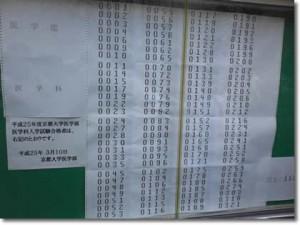 2013年京大合格発表