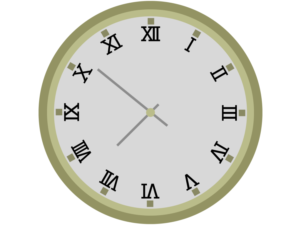 ローマ数字の時計